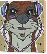 Awesome Otter Wood Print