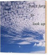 Awesome Sky And Cloud Formation Wood Print