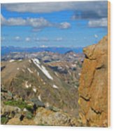Awesome View From The Mount Massive Summit Wood Print
