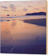Awesome Zipolite Sunset 2 Wood Print