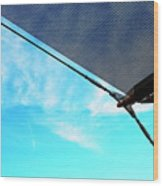 Awning Above A Wharf In Marseille Wood Print