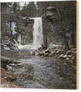 Awosting Falls In January #2 Wood Print
