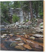 Awosting Falls In July Iv Wood Print