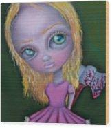 Ax Girl Wood Print