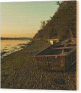 Axe Estuary Boat  Wood Print
