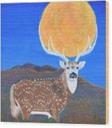 Axis Moon Wood Print