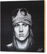 Axl Rose - Welcome To The Jungle Wood Print