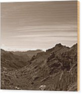Ayacata And Roque Nublo Wood Print