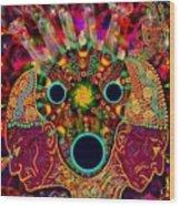 Ayahuasca Dimensional Encounter Wood Print