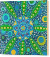 Ayahuasca Vision - Inside The Plant Cell  May 2015 Wood Print