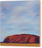Ayers Rock V2 Wood Print