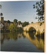 Aylesford Bridge Kent Wood Print
