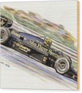 Ayrton Senna 1985 Wood Print