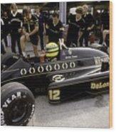 Ayrton Senna. 1986 German Grand Prix Wood Print
