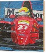 Ayrton Senna Ferrari 27 Wood Print