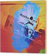 Ayrton Senna Wood Print by Naxart Studio