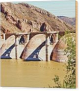 Az 2011 Apache Res - Coolidge Dam Wood Print