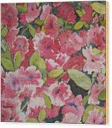 Azalea Medley Wood Print