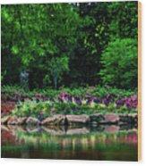 Azalea Pond Wood Print