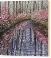 Azalea River Wood Print