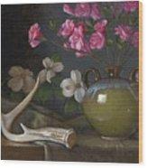 Azaleas And Dogwood Wood Print by Timothy Jones