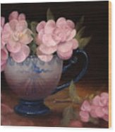 Azaleas In A Cup Wood Print