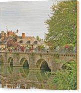 Azay Le Rideau Bridge, Boys Fishing Wood Print