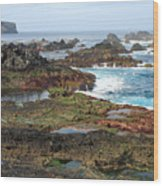 Azores Seascape Wood Print
