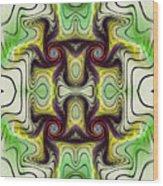 Aztec Art Design Wood Print