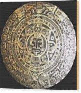Aztec Calendar Wood Print