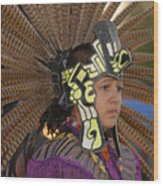 Aztec Dancer Wood Print