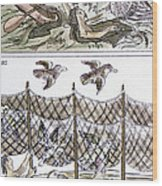 Aztec Fishermen Wood Print