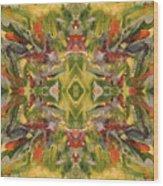 Aztec Kaleidoscope - Pattern 001 - Desert Wood Print