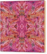 Aztec Kaleidoscope - Pattern 009 - Crimson Wood Print