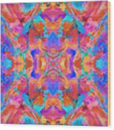 Aztec Kaleidoscope - Pattern 015 Wood Print
