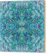 Aztec Kaleidoscope - Pattern 018 - Ocean Wood Print