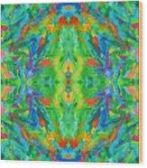 Aztec Kaleidoscope - Pattern 025 Wood Print