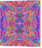 Aztec Kaleidoscope - Pattern 032 Wood Print