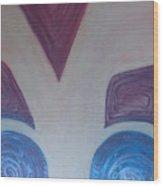 Aztec Map 6 Wood Print