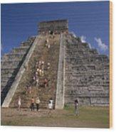 Aztec Pyramid Near Mexico City Wood Print