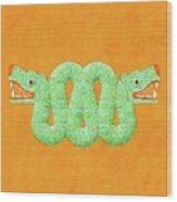 Aztec Serpent Wood Print