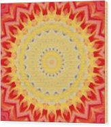 Aztec Sunburst Wood Print