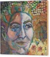 Aztec Woman Wood Print