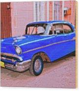 Azul Cobalto Wood Print