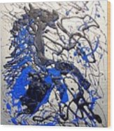 Azul Diablo Wood Print by J R Seymour