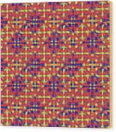 Azulejos Magic Pattern - 10 Wood Print