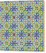Azulejos Magic Pattern - 11 Wood Print