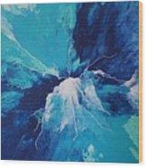 Azure Impulse  Wood Print