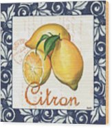 Azure Lemon 2 Wood Print