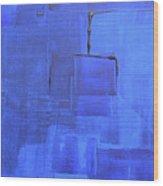 Azure Wood Print